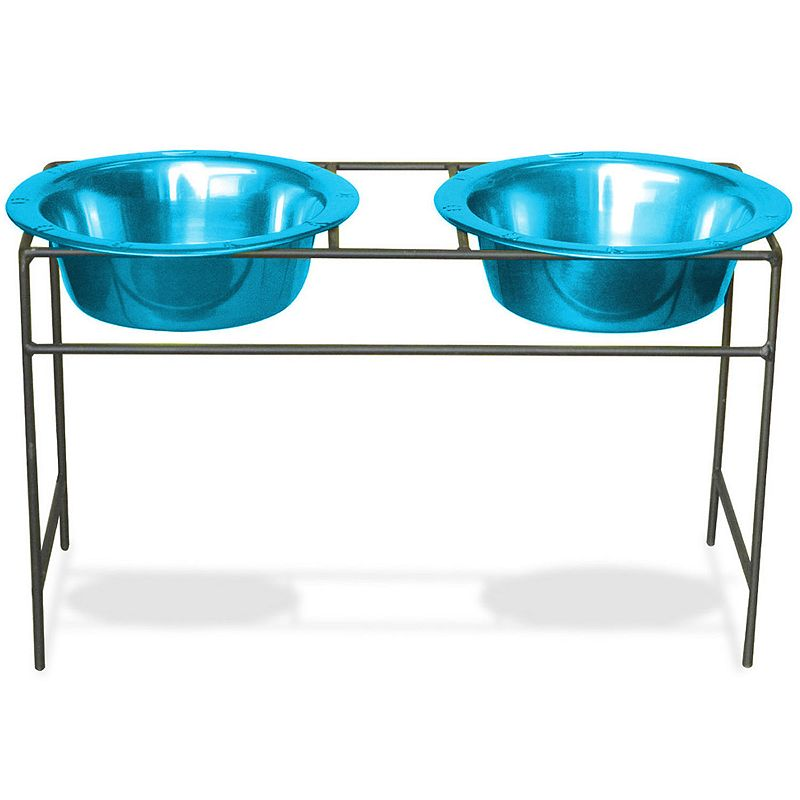 Platinum Pets 4-Cup Modern Double Diner Pet Bowl Set