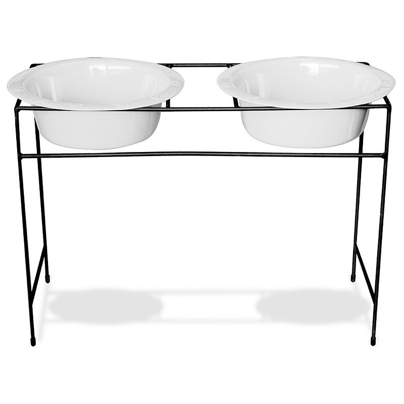 Platinum Pets 12-Cup Modern Double Diner Pet Bowl Set