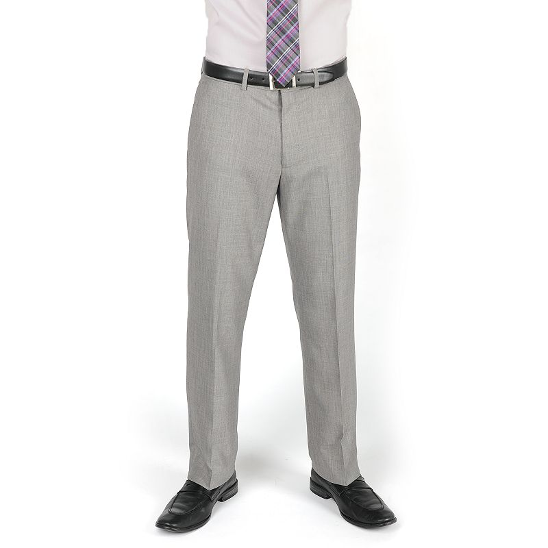 Men's Dockers® Classic-Fit Sharkskin Flat-Front Gray Suit Pants