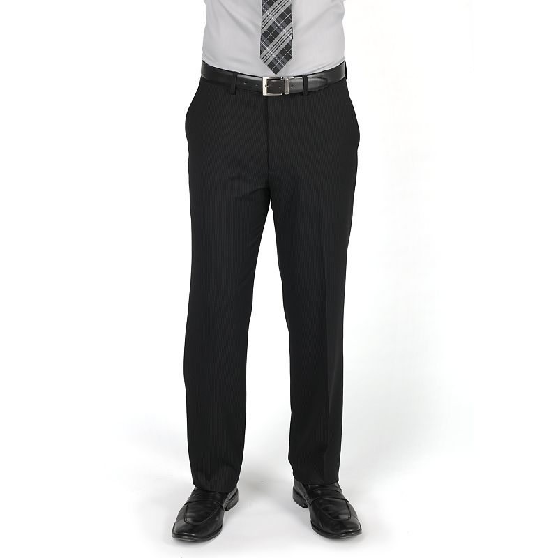 Men's Dockers® Classic-Fit Solid Flat-Front Black Suit Pants