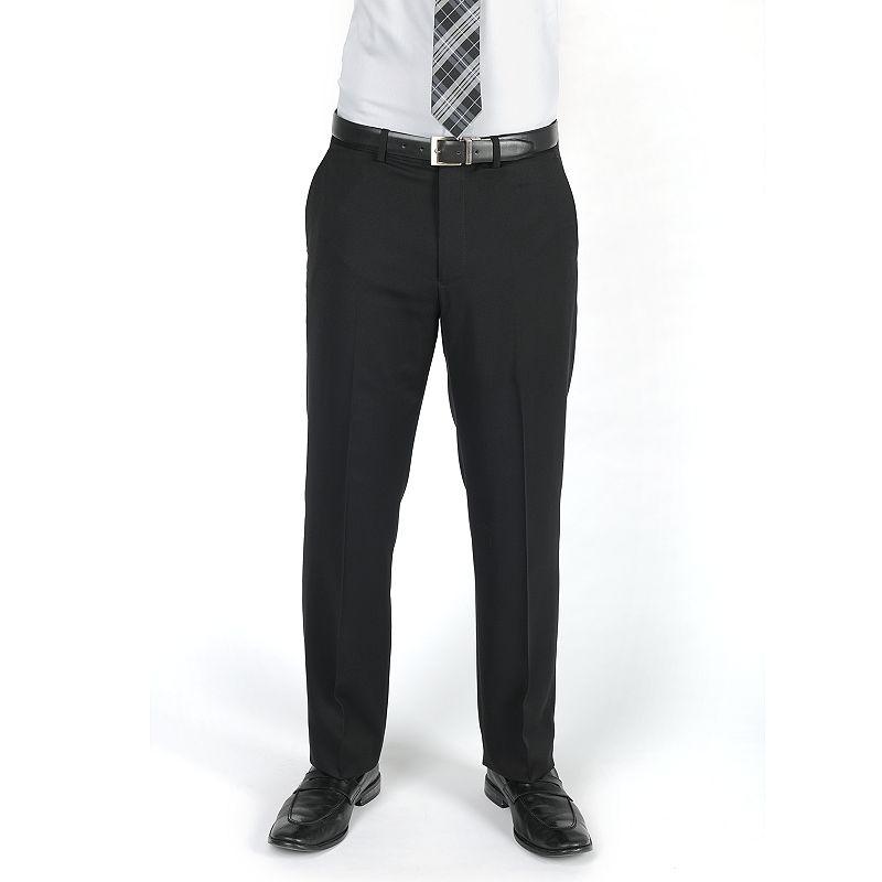Men's Dockers® Classic-Fit Solid Flat-Front Black Suit Pants