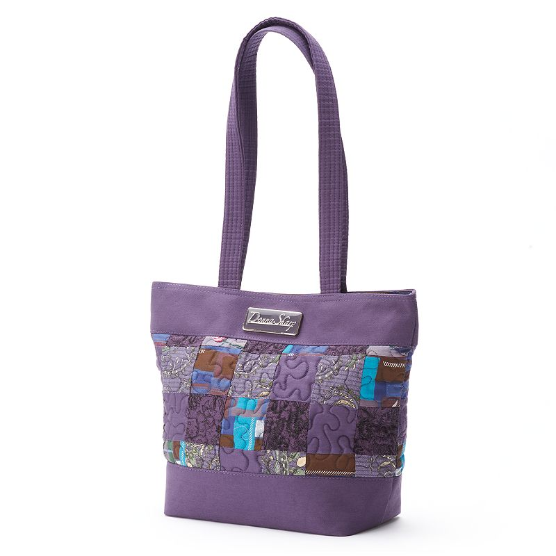 Donna Sharp Quilted Patchwork Dotted Tote