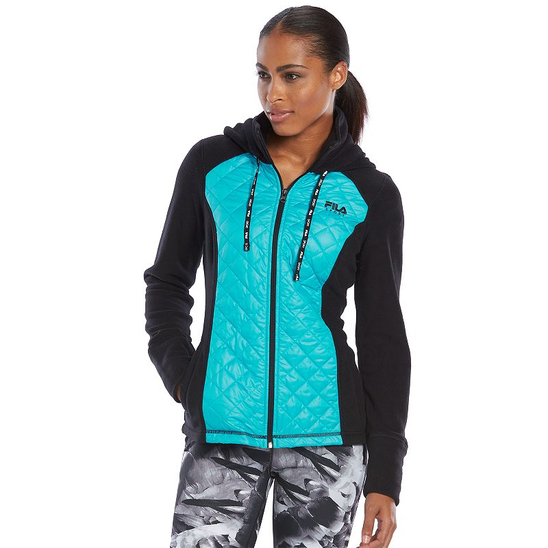 Women's FILA SPORT® Run Swift Quilted Polar Fleece Workout Jacket