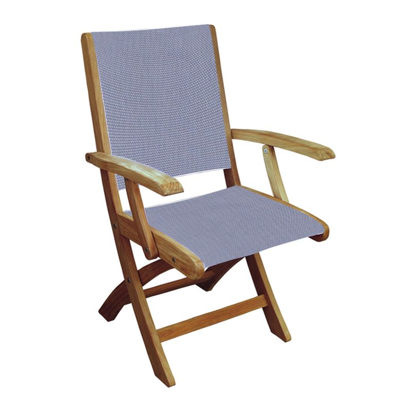 Three Birds Casual Riviera Folding Arm Chair Indoor and Outdoor