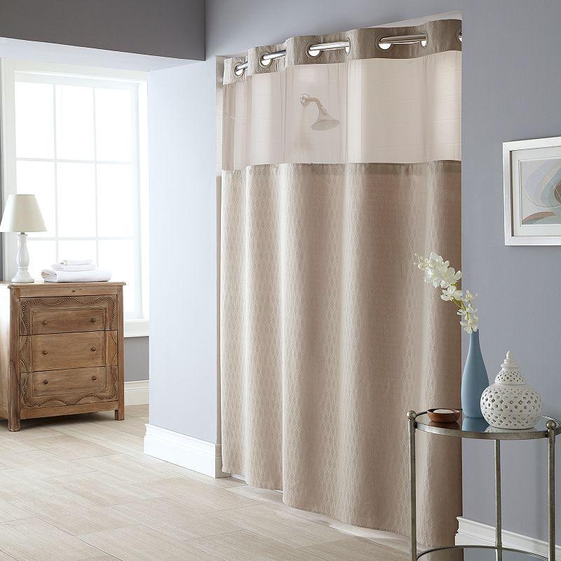 Windowpane 2-pc. Fabric Shower Curtain & Liner Set