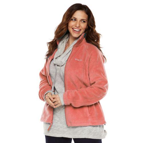 Plus Size Columbia Solid Fleece Jacket