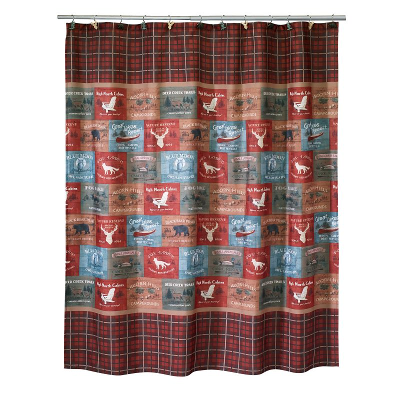 Silhouette Lodge Fabric Shower Curtain | DealTrend