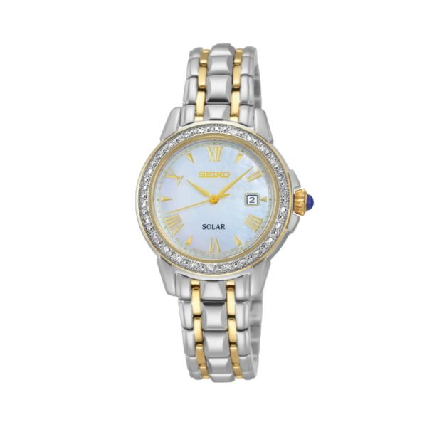 Seiko Women's Two Tone Stainless Steel Solar Watch - SUT170