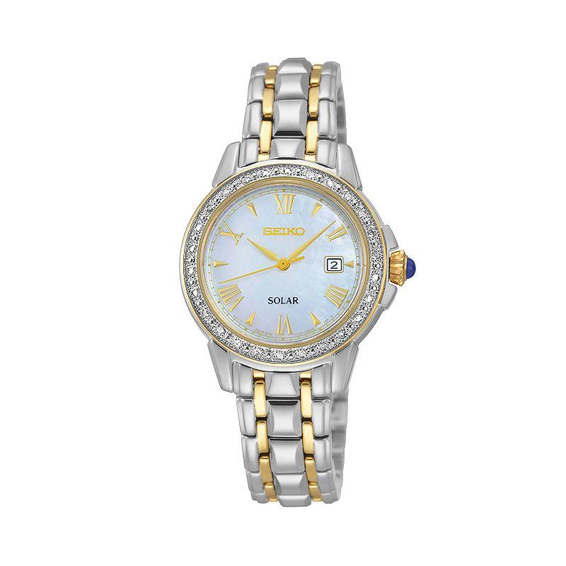 Seiko Women's Two Tone Stainless Steel Solar Watch - SUT170