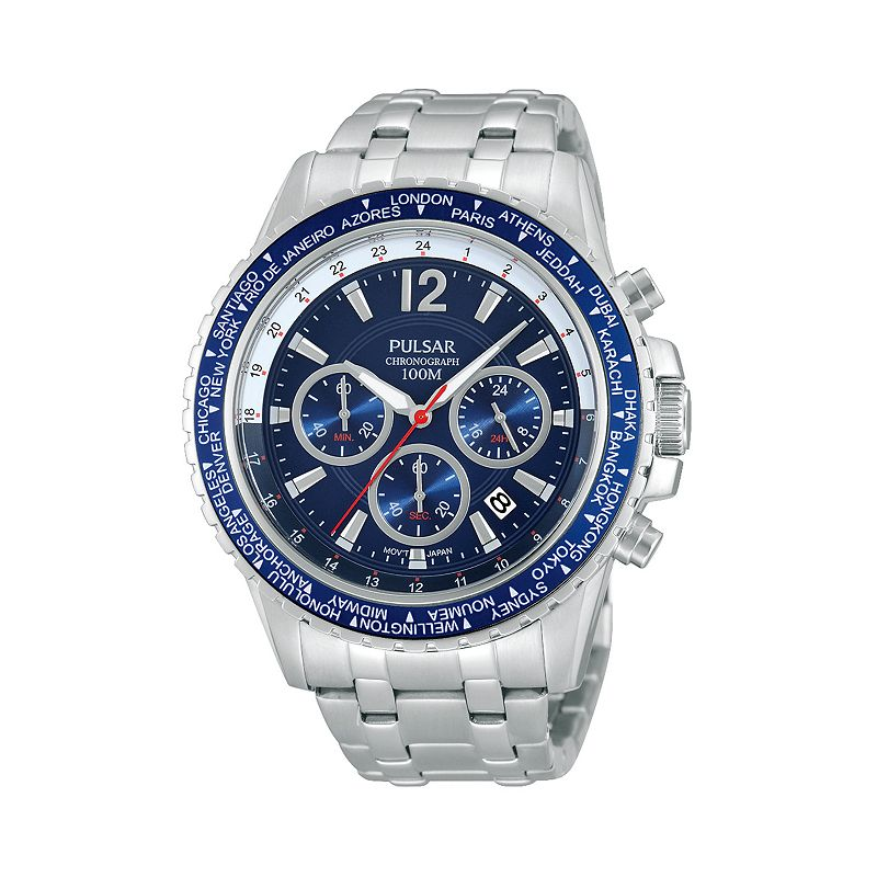Pulsar Men's Stainless Steel Chronograph Watch - PT3579