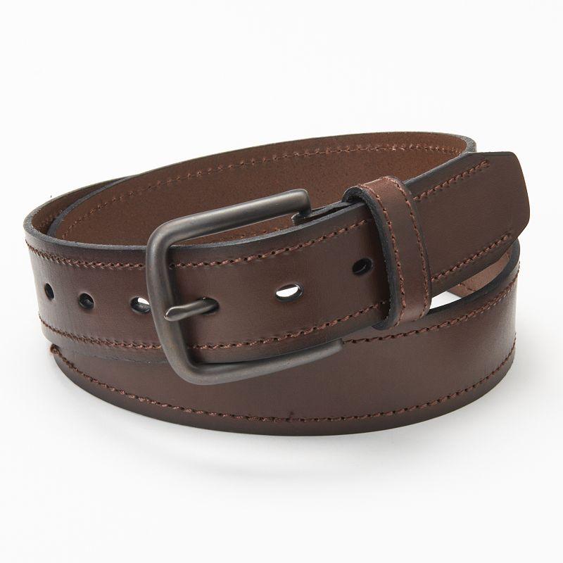Men's Levi's Brown Beveled Leather Belt