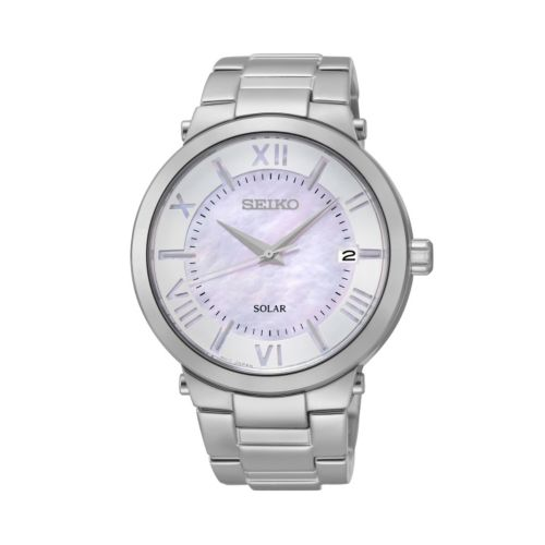 Seiko Women's Stainless Steel Solar Watch - SNE885
