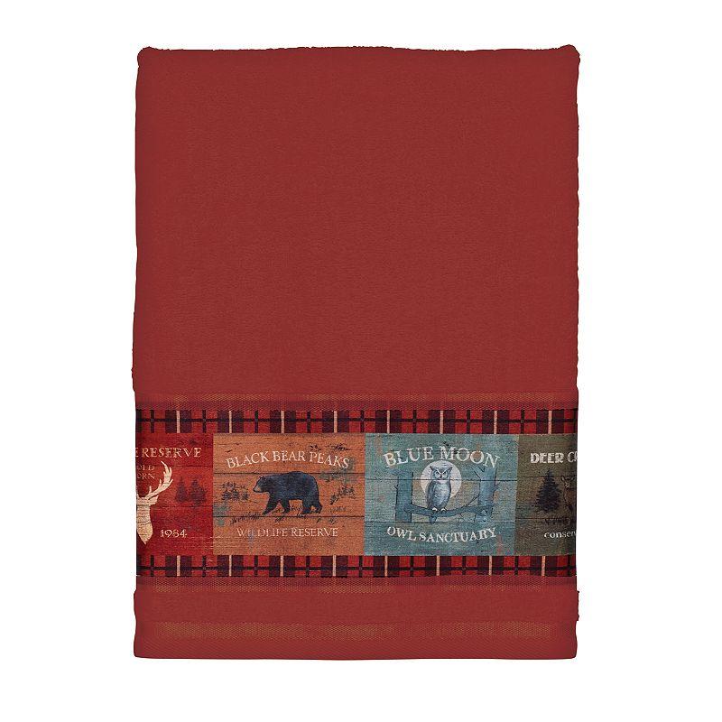 Avanti Lodge Signs Patchwork Bath Towel
