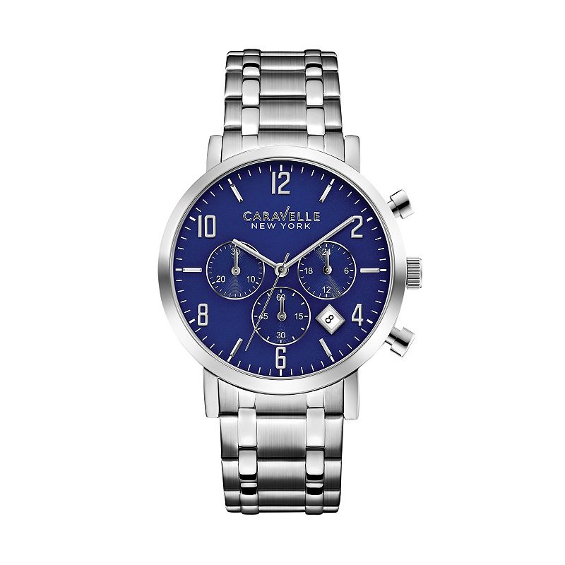 Caravelle New York by Bulova Men's Jasper Stainless Steel Chronograph Watch