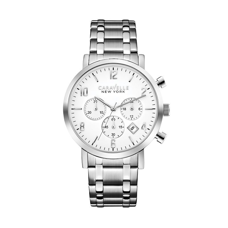 Caravelle New York by Bulova Men's Jasper Stainless Steel Chronograph Watch
