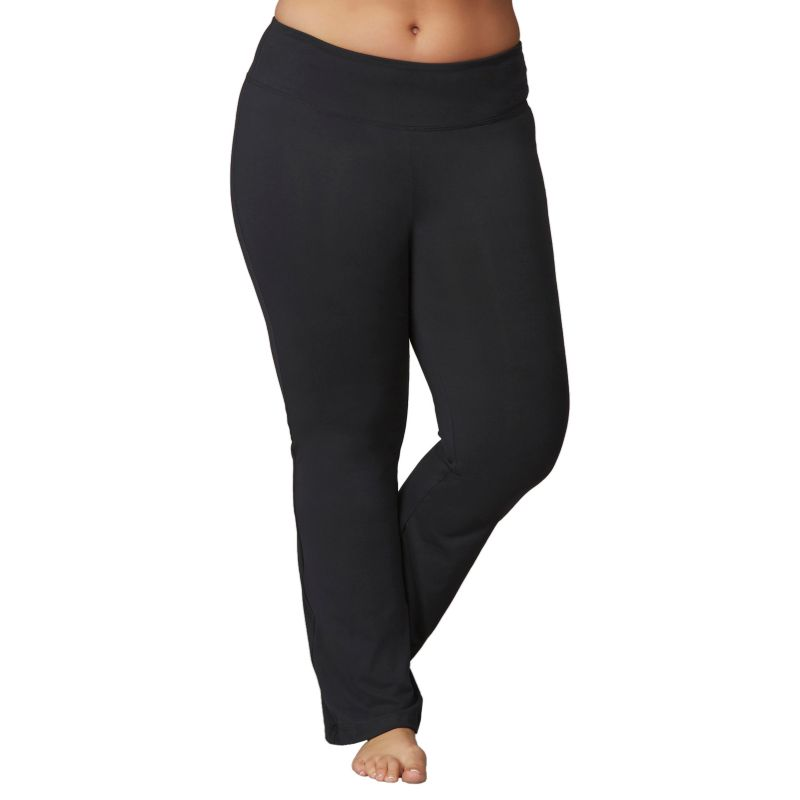 Plus Size Plus Size Marika Weekend Sanded Dry Wik Bootleg Yoga Pants, Women's, Size: 1X, Black