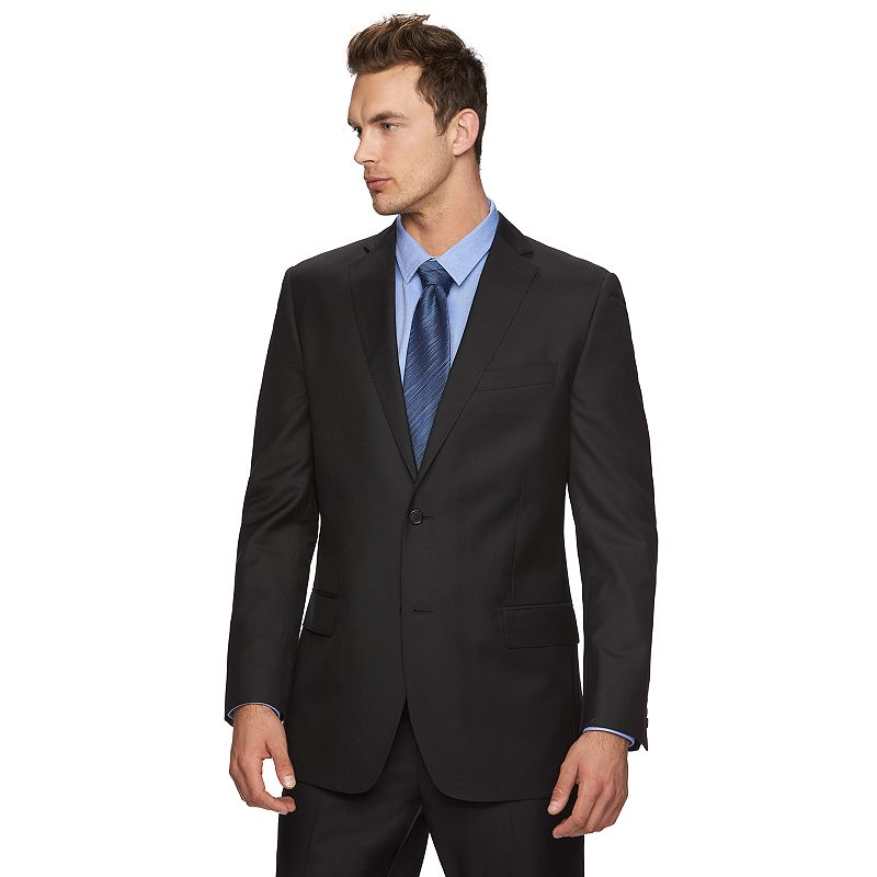 Men's Marc Anthony Twill Slim-Fit Black Suit Jacket