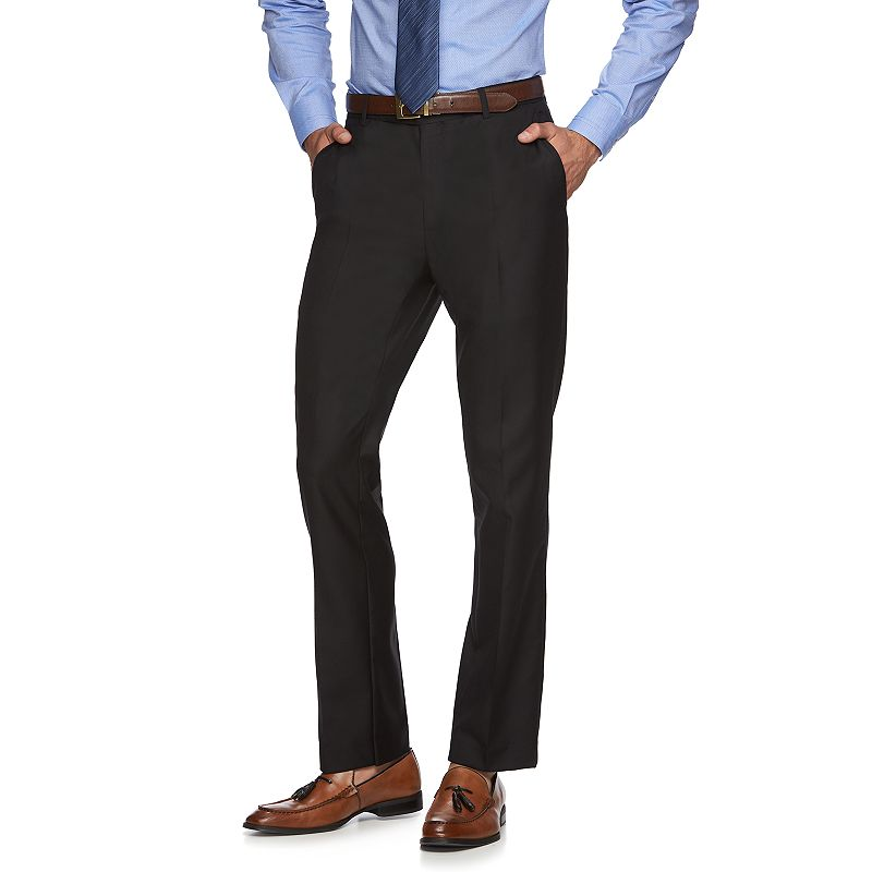 Men's Marc Anthony Twill Slim-Fit Black Suit Pants