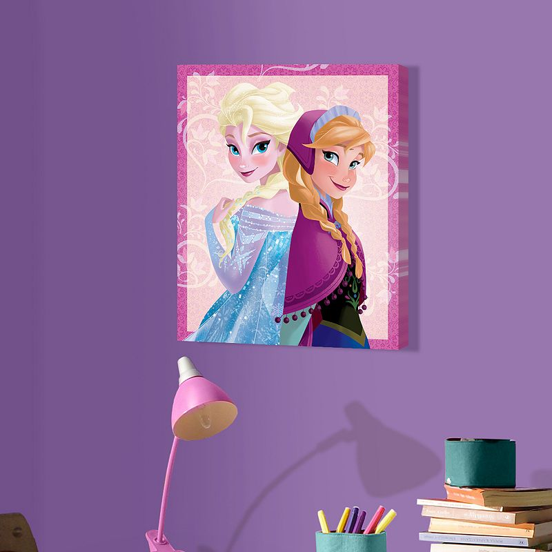 Disney Frozen Elsa and Anna 20'' x 16'' Canvas Wall Art