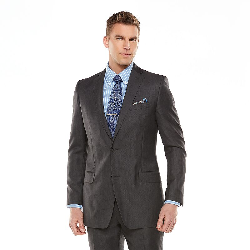 Men's Marc Anthony Elevated Slim-Fit Wool Charcoal Suit Jacket