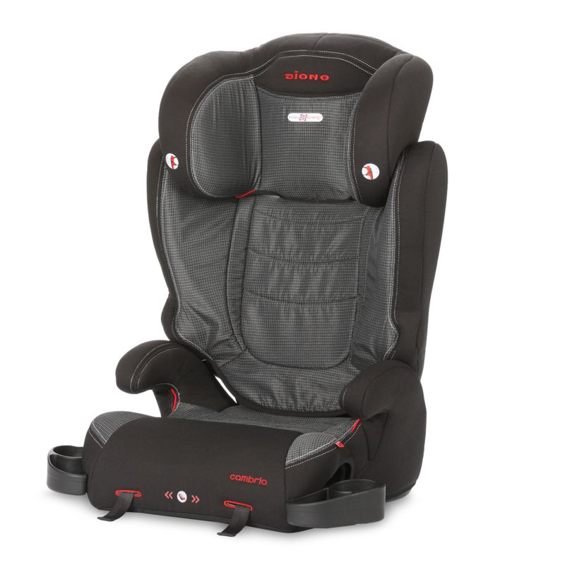 Diono Cambria High Back Booster Car Seat, Black