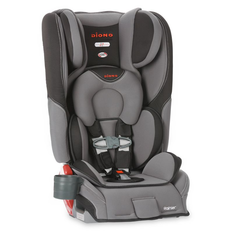 Diono Rainier Convertible and Booster Car Seat, Grey