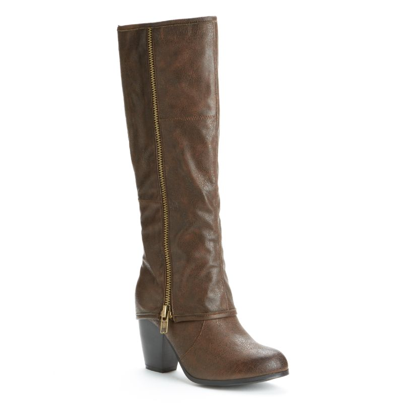 brown knee high boots kohl s