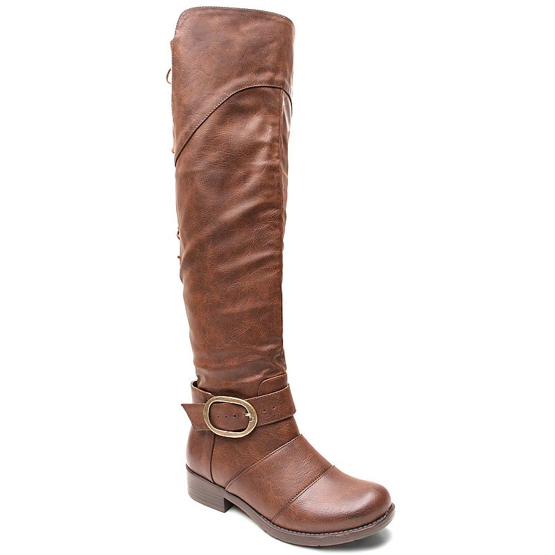 Kisses by 2 Lips Too Too Jackpot Women's Adjustable Calf Riding Boots