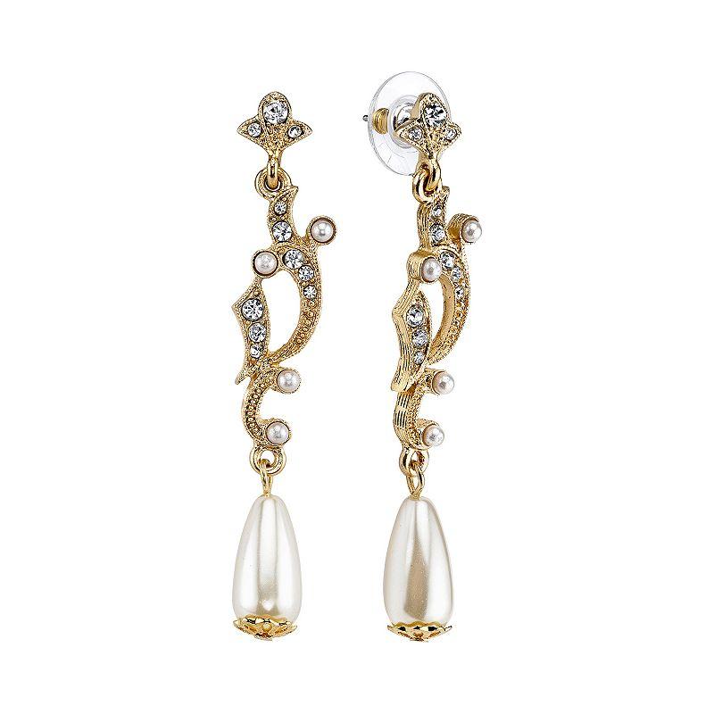 Downton Abbey Openwork Drop Earrings