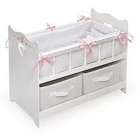 Badger Basket Doll Crib & Basket Set