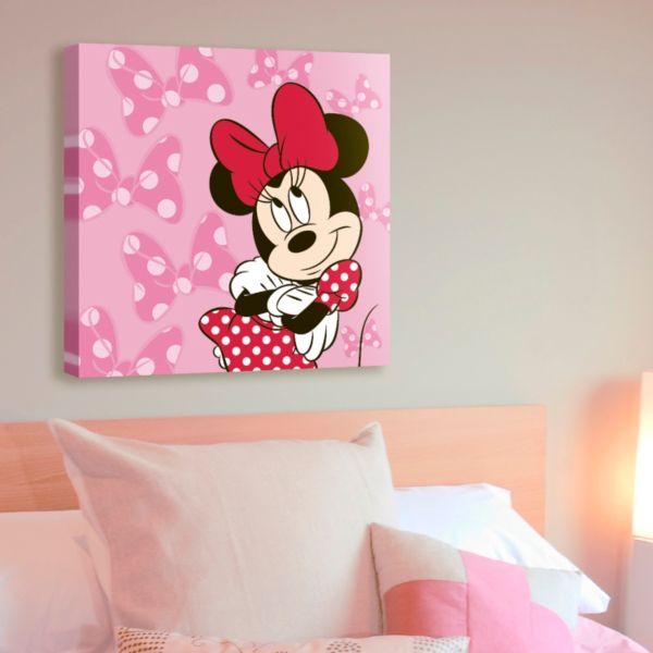 Disney Minnie Mouse Bow 18'' x 18'' Canvas Wall Art