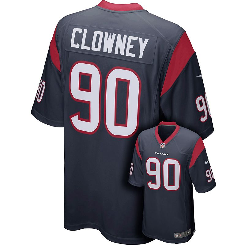 Men's Nike Houston Texans Jadeveon Clowney Game NFL Replica Jersey