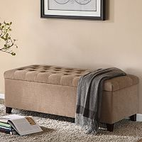 Madison Park Shandra Tufted Storage Ottoman