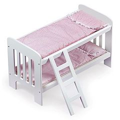 Badger Basket Doll Bunk Bed with Ladder by