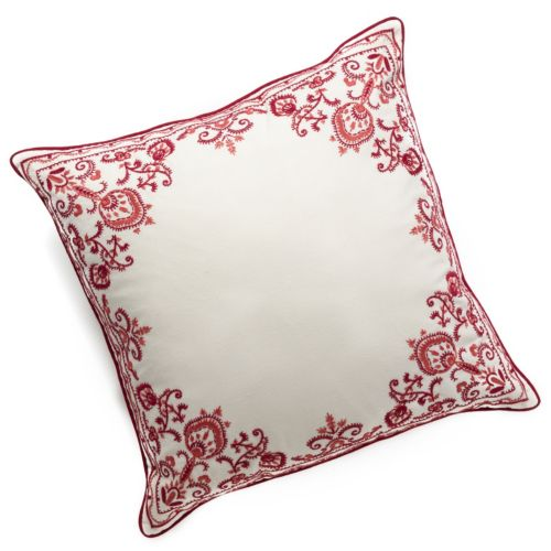 Chaps Home Juliette Embroidered Border Decorative Pillow