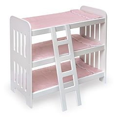 Badger Basket Triple Doll Bunk Bed by