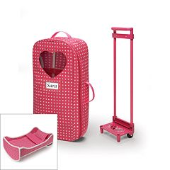 Badger Basket 2-in-1 Doll Wheeled Travel Case with Bed  by