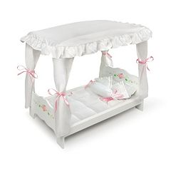 Badger Basket Doll Canopy Bed by