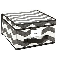 The Macbeth Collection Closet Candie Chevron Collapsible Storage Box - Medium