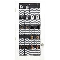The Macbeth Collection Closet Candie Collapsible Chevron 20-Pocket Over-the-Door Shoe Organizer