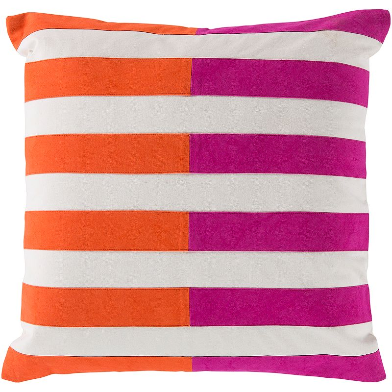 Pink Stripe Throw Pillow Kohl s