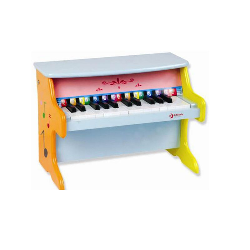 Classic World Toy Wood Piano, Multicolor