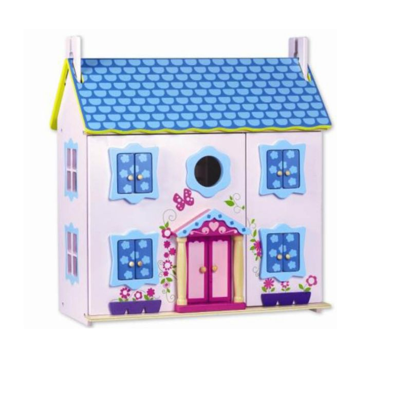 Classic World Wood Doll House with Furniture, Pink