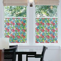 DC Fix Floral Stained Glass Window Film