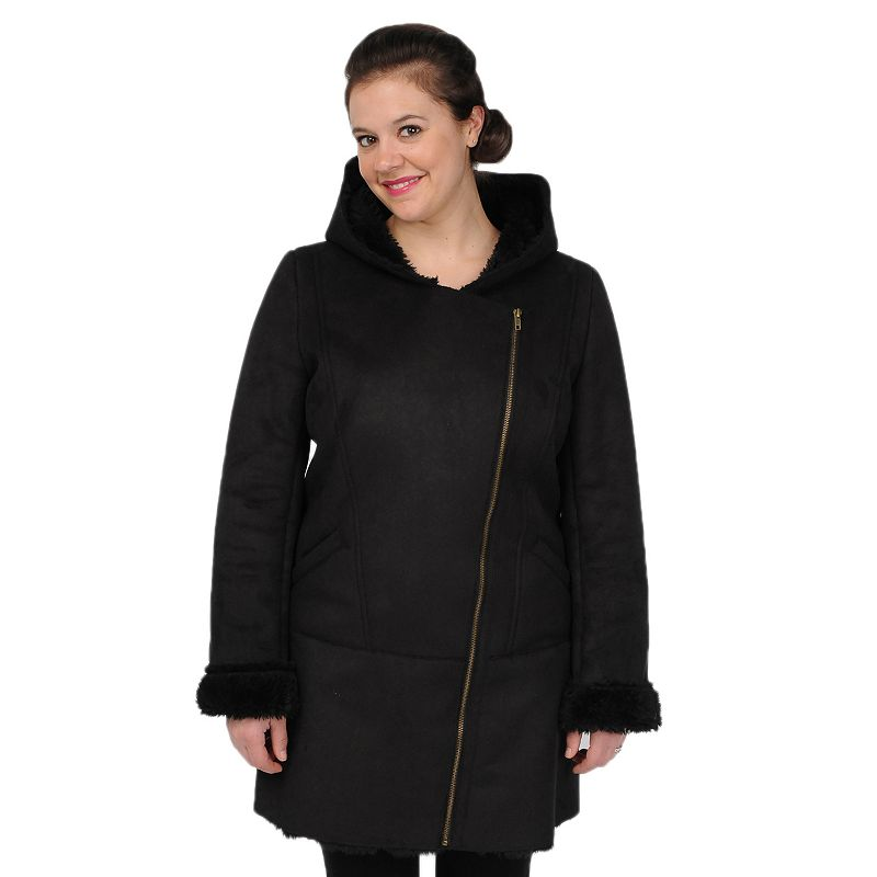 Women's Excelled Hooded Faux-Shearling Jacket