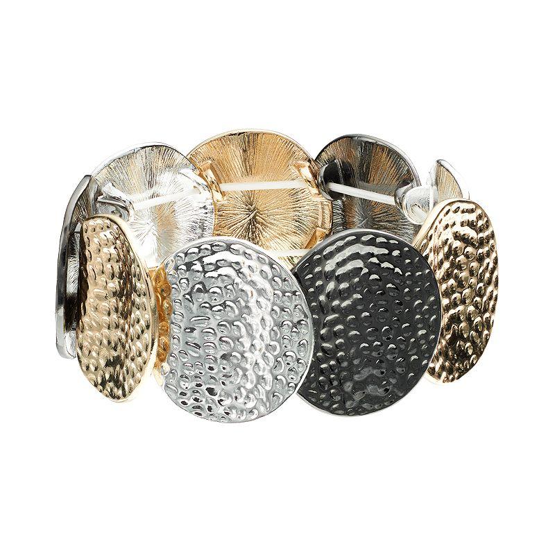 Apt. 9® Hammered Disc Stretch Bracelet
