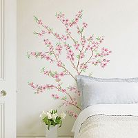 Home Decor Line Peach Branch Panoramic Wall Decal