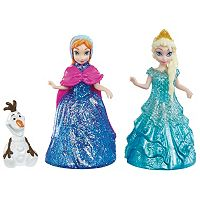 Disney Frozen Anna, Elsa & Olaf Magiclip Doll Set by Mattel