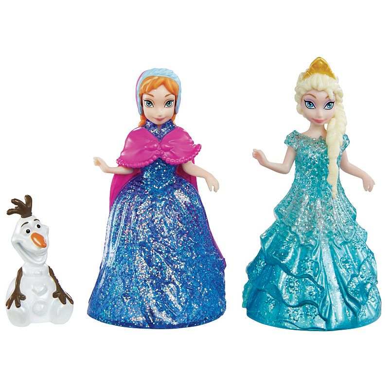 Disney Frozen Anna, Elsa and Olaf Magiclip Doll Set by Mattel