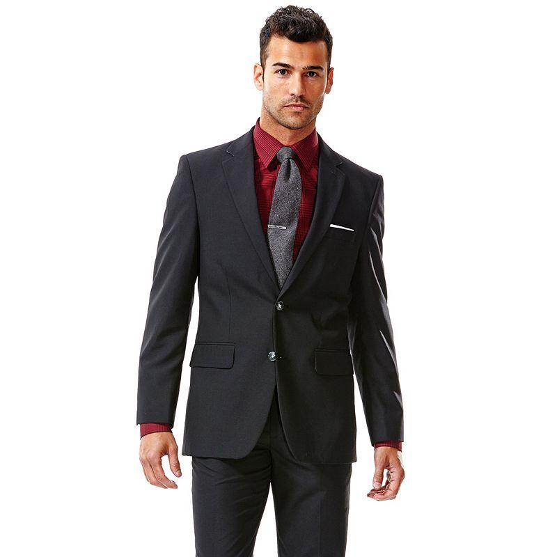 Men's Haggar® Straight-Fit Solid Black Suit Jacket